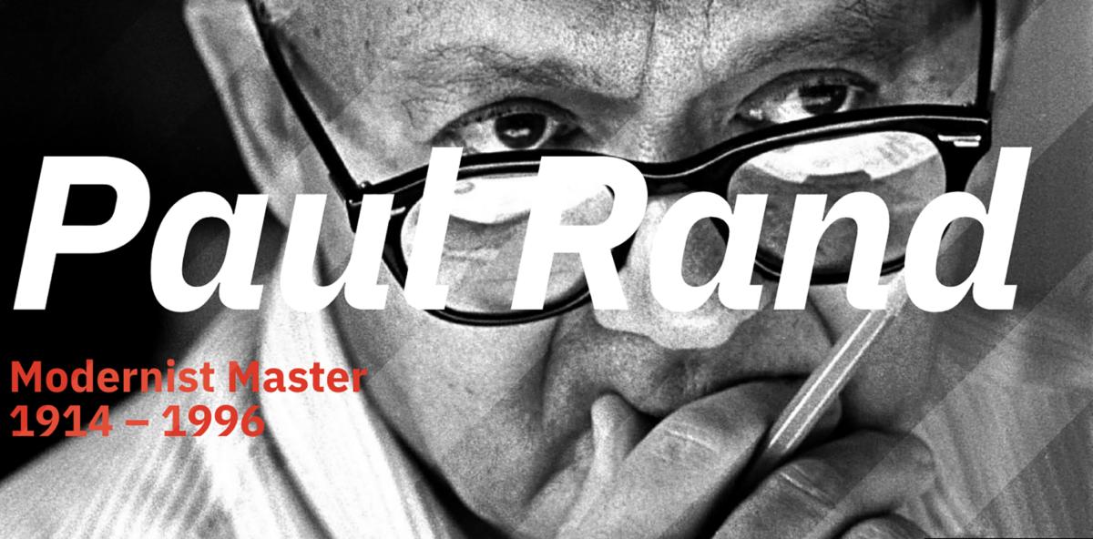Detalle fotografía de Paul Rand, mi diseñador favorito