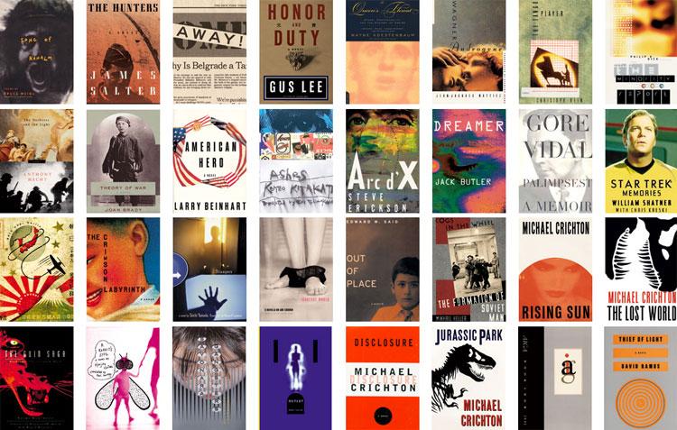 Colección de portadas de libros diseñadas por Chip Kidd, el rockstar de los libros